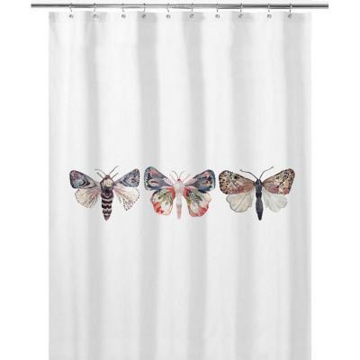 Cortina de baño 180x180 cm mariposas