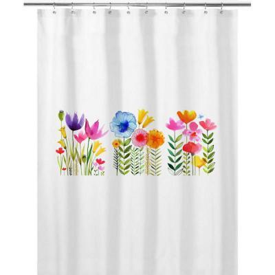Cortina de baño 180x180 cm jardín de flores