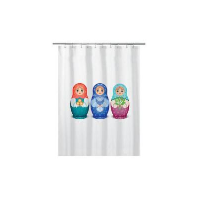 Cortina de baño 180x180 cm muñecas rusas