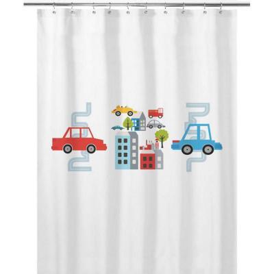 Cortina de baño 180x180 cm autos