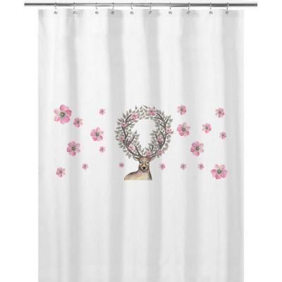 Cortina de baño 180x180 cm venado flores