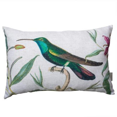 Cojín colibrí verde focal 50x33 cm