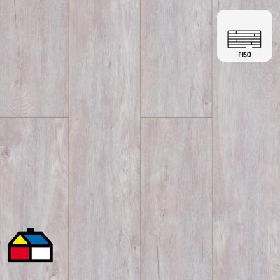 Piso vinílico 5 mm beige 22,9x151,1 cm 2,08 m2