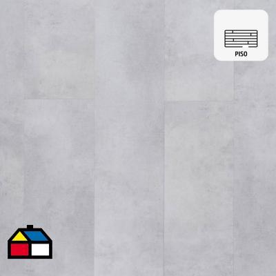 Piso vinílico 5 mm gris 22,9x122 cm 2,24 m2