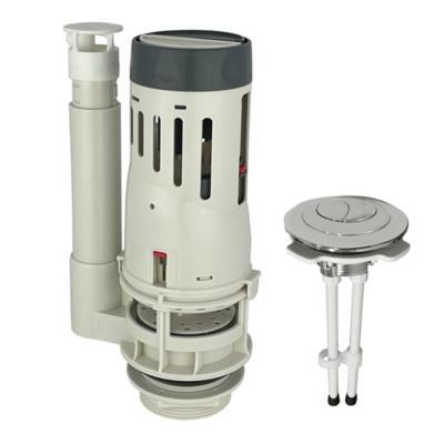 Válvula descarga dual con botón para tanque