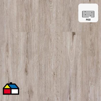 Piso vinílico 5 mm beige 122x18 cm 2,2 m2