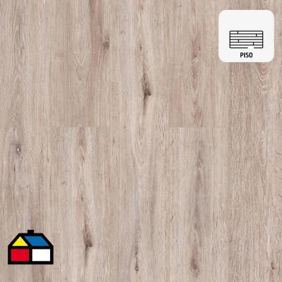 Piso vinílico 5 mm gris 122x18 cm 2,19 m2