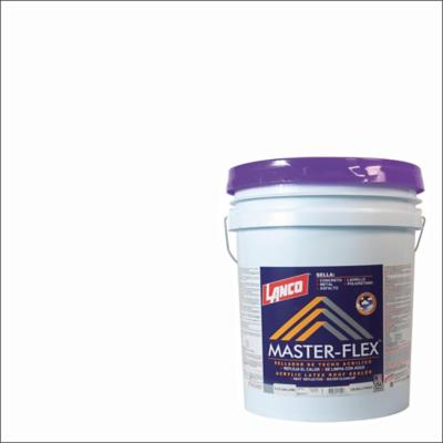 Sellador para techos master-flex 5 galones blanco