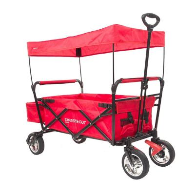 Carro transporte plegable 100x50x118 cm rojo