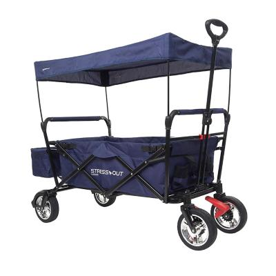 Carro transporte plegable 100x50x118 cm azul