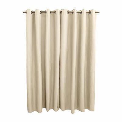 Pack 2 cortinas engomada 140x225 cm marfil