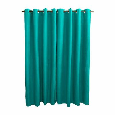 Pack 2 cortinas engomada 140x225 cm turquesa