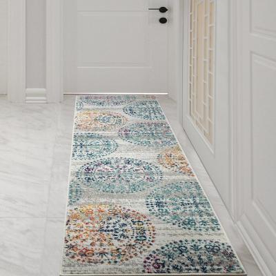 Alfombra pasillo elite 230x64 cm azul