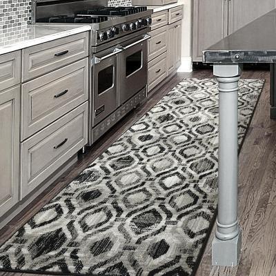 Alfombra pasillo elite 64x230 cm negro/gris