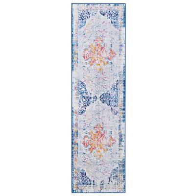 Alfombra pasillo elite 64x230 cm azul
