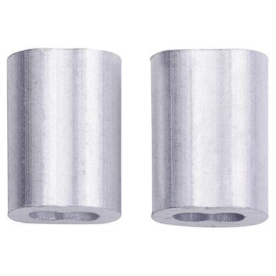"""Set de abrazaderas aluminio 1/16"""" 2 unidades"""