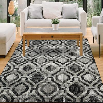 Alfombra elite 160x230 cm negro/gris