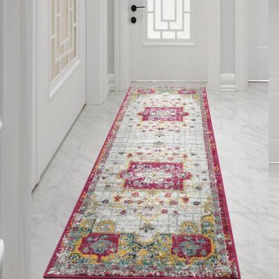 Alfombra pasillo elite 64x230 cm rosado