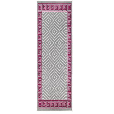 Alfombra pasillo elite 64x230 cm gris