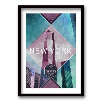Cuadro 50x35 cm ilustración new york
