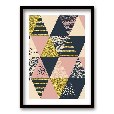 Cuadro 40x30 cm ilustración rosa triangular