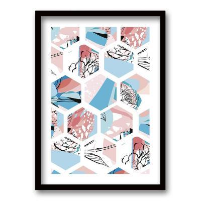 Cuadro 40x30 cm ilustración colmena