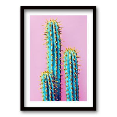 Cuadro 70x50 cm ilustración cactus neon