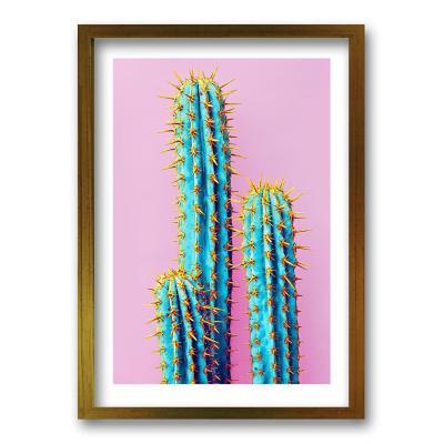 Cuadro 50x35 cm ilustración cactus neon