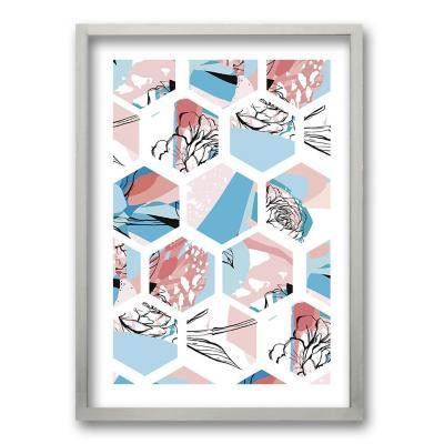 Cuadro 70x50 cm ilustración colmena
