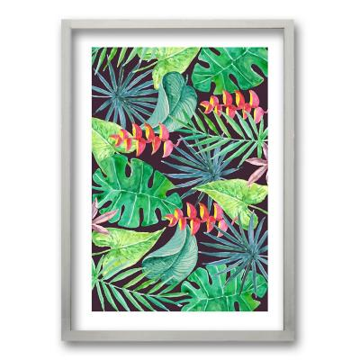 Cuadro 40x30 cm ilustración vista verde