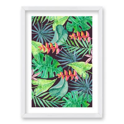 Cuadro 50x35 cm ilustración vista verde