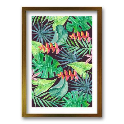 Cuadro 70x50 cm ilustración vista verde