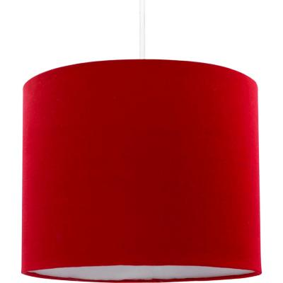 Lámpara colgante liso rojo 1 luz e27