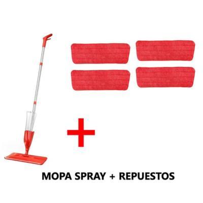 Mopa spray con 4 repuestos mopa microfibra