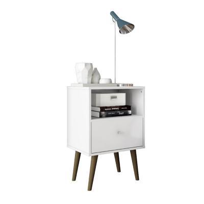 Velador 1 cajón blanco 69x45x36 cm