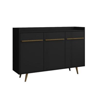 Buffet bar negro 97x135x37 cm