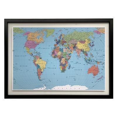 Mapa pineable color 50x70 cm