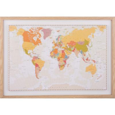 Mapa pineable sepia 50x70 cm