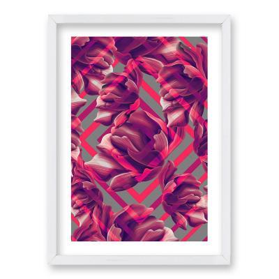Cuadro 40x30 cm ilustración diamante rosa