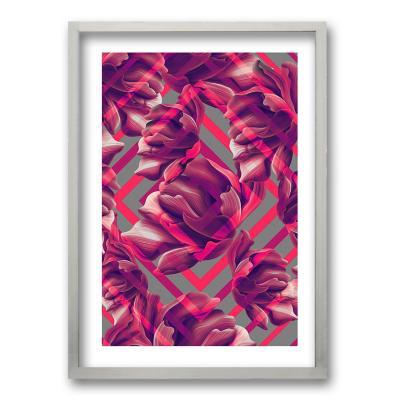 Cuadro 50x35 cm ilustración diamante rosa