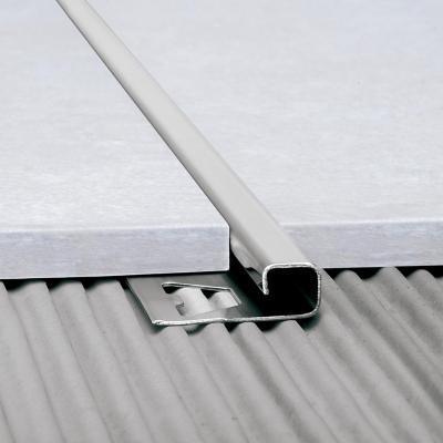 Perfil para piso acero inoxidable 12x12mm