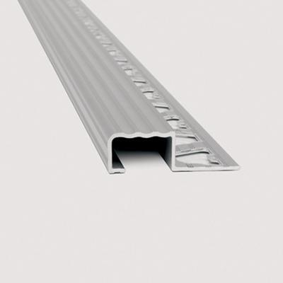 Protector grada aluminio 10.5x20mm cromado