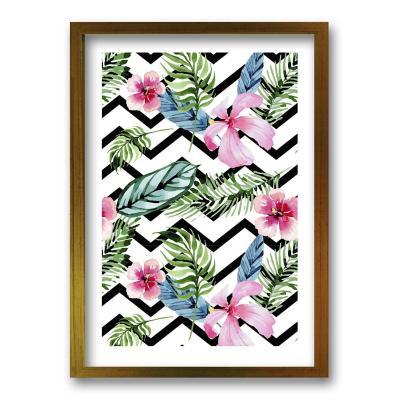 Cuadro 70x50 cm ilustración patron floral