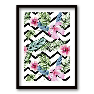 Cuadro 40x30 cm ilustración patron floral