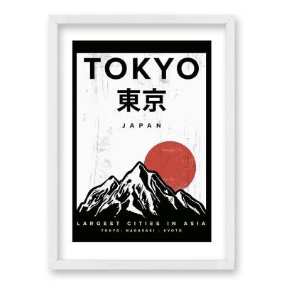 Cuadro 40x30 cm ilustración tokyo