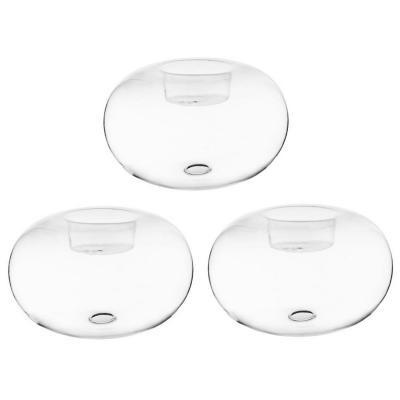 Set 3 portavelas tealight de vidrio