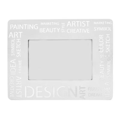 Marco de fotos metal diseño moderno blanco