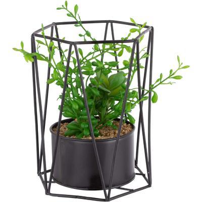 Arreglo planta artificial 22 cm negro