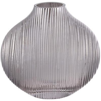 Florero vidrio 17 cm gris