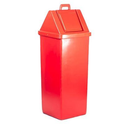 Basurero industrial tapa vaivén 100 Lts Rojo